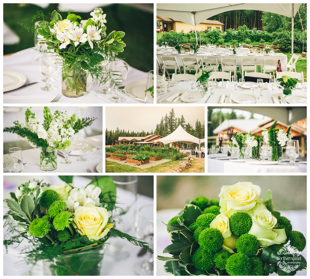 Wedding Reception Florals - Prince George BC
