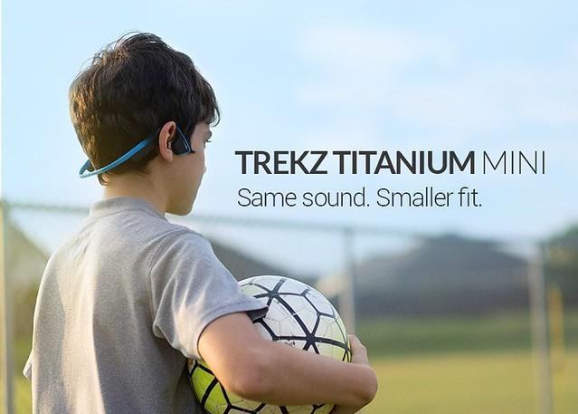 Trekz Titanium AS600 Mini骨傳導藍牙運動耳機則適用於頭型較小的使用者或是小朋友使用