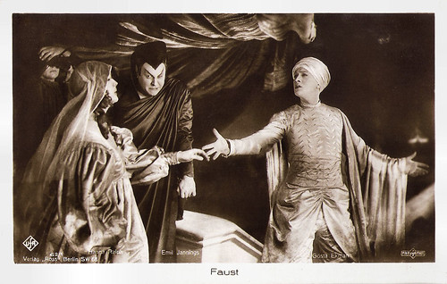 Gösta Ekman, Emil Jannings and Hanna Ralph in Faust (1926)