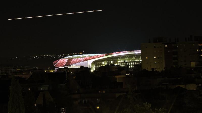 Wanda Metropolitano - Pruebas de iluminación