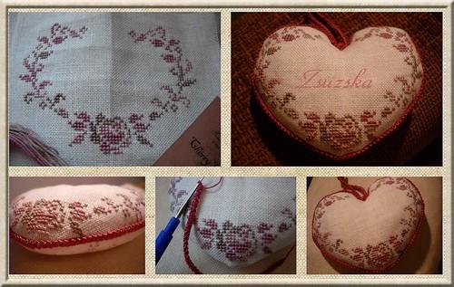 maryse, cross stitch, bonheur