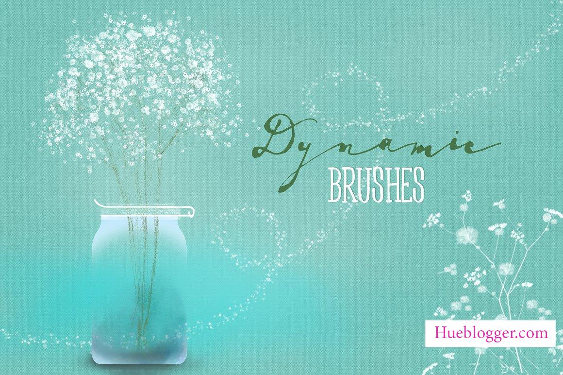 Brush hoa baby nhẹ nhàng cho thiết kế sáng tạo