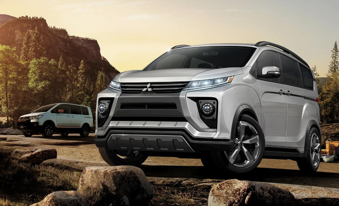 2018-Mitsubishi-Delica-front-three-quarters-rendering