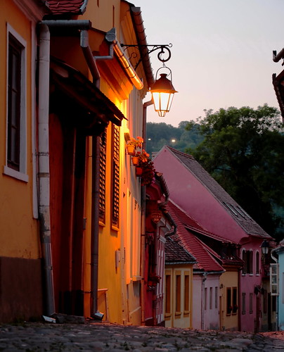 night romania sighisoara transilvania siebenburgen