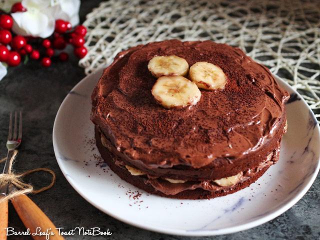 香蕉摩卡巧克力蛋糕 banana-mocha-chocolate-cake-mocha-frosting (4)