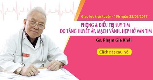 Giải pháp phòng và trị suy tim do tăng huyết áp, bệnh mạch vành, van tim tư vấn bởi GS Phạm Gia Khải