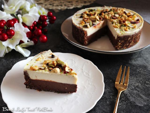 全素雙層黑白巧克力榛果派 vegan-double-chocolate-hazelnut-layered-pie (8)