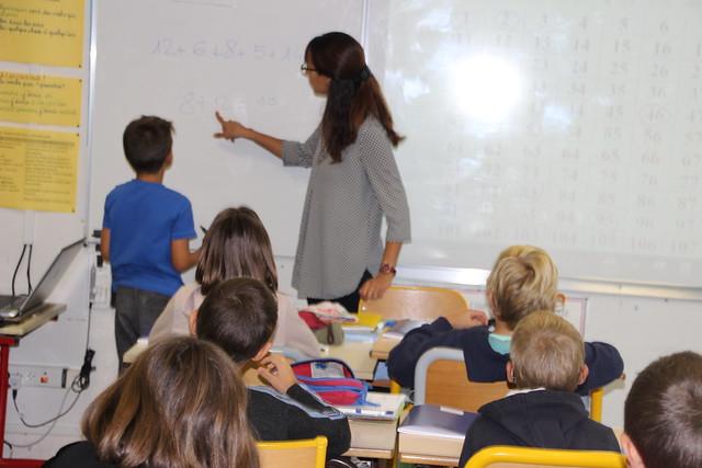 Visite à l'école primaire de Marsaneix