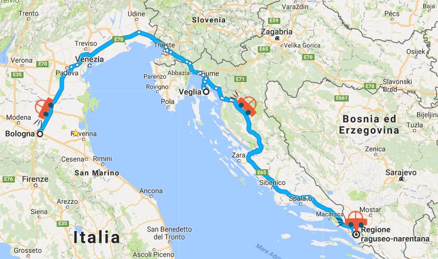 cartina itinerario