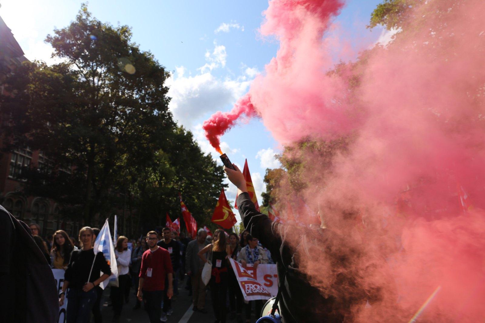 Manifestation anti loi travail Lille 12 septembre 2017