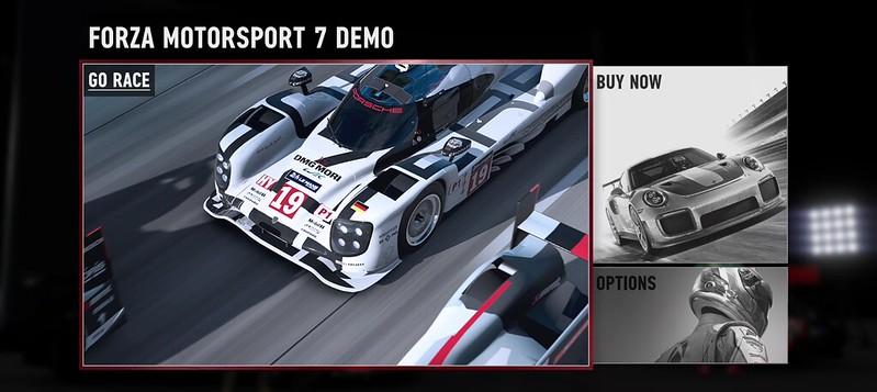 FM Forza Motorsport 7 Demo Is Live