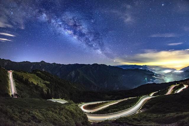 合歡山/昆陽~88車軌●銀河~  Light trail &Milkyway