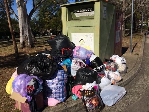 dumping at charity clothing bins