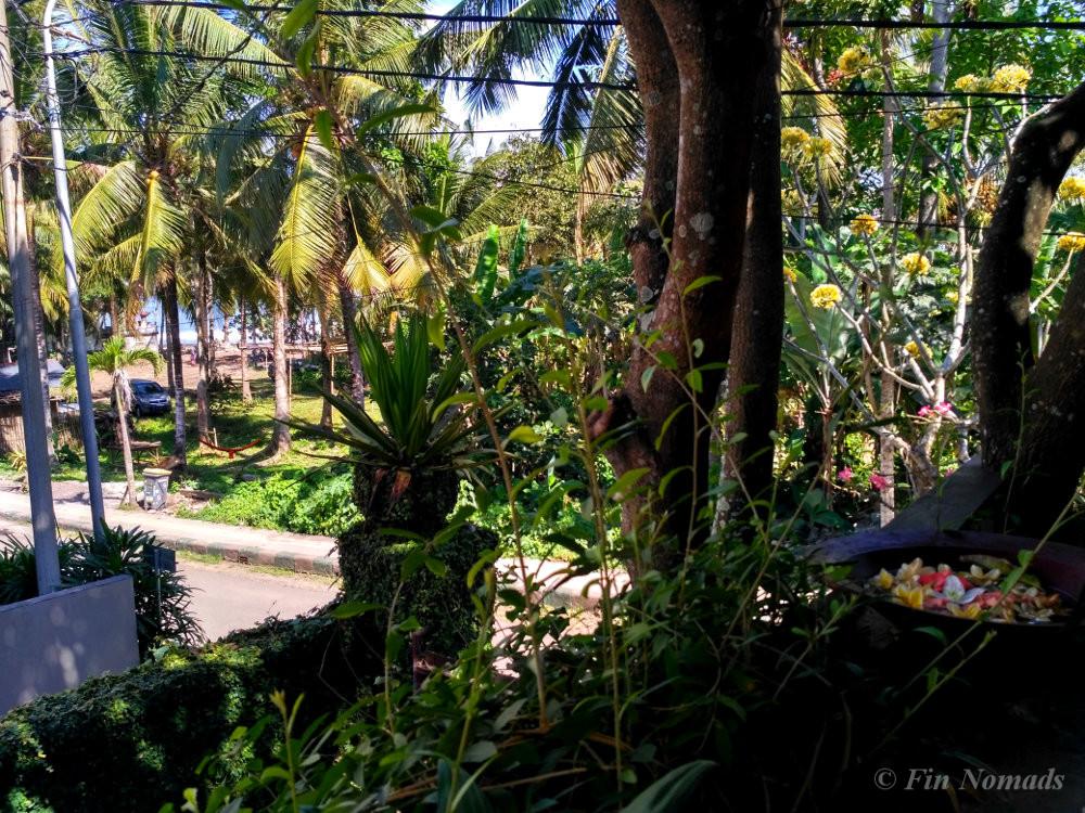 Bali guesthouse terrace