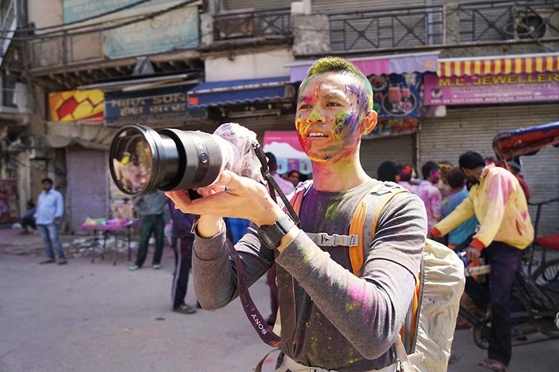 Nhiếp ảnh gia Tâm Bùi - Lễ hội ném bột màu Holi ở Ấn Độ