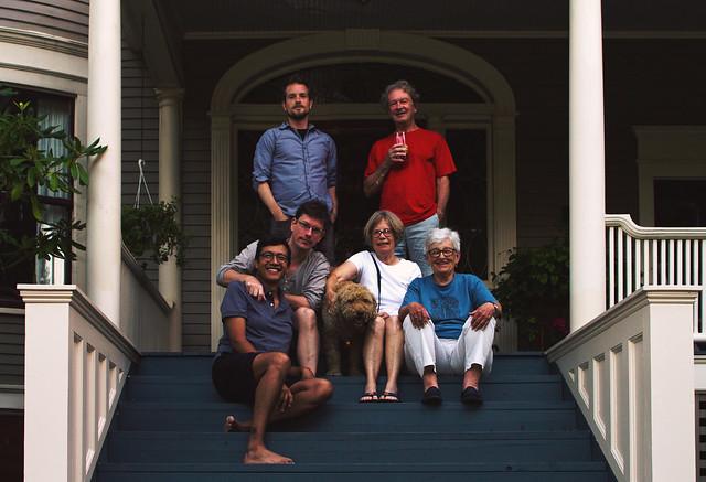 Carlos, Will, Janie, Mom, Dad, Me, Bucky; 22 Parker, Wakefield, MA (2017)