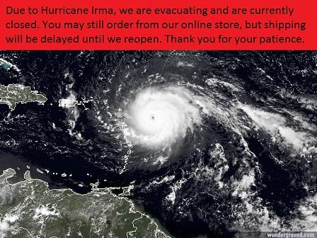 hurricane irma closed message