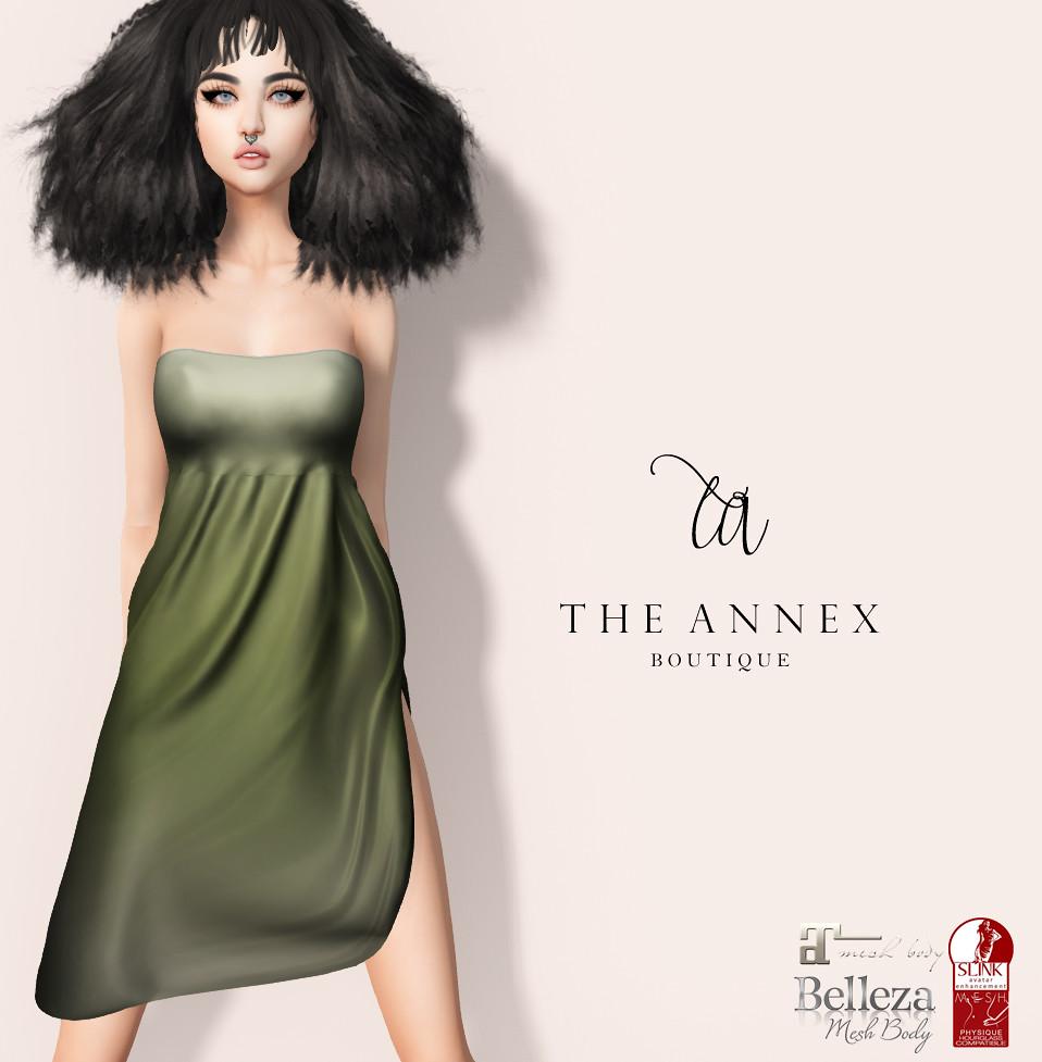 TA LAUREN DRESS MMM VENDOR - MIDNIGHT - SecondLifeHub.com