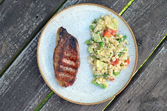Grilled Pork Chops w/ Veggie Risotto 08.05.17
