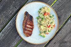 Grilled Pork Chops w/ Veggie Risotto 08.05.17