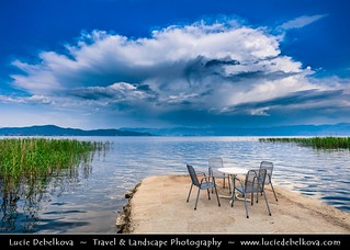 Macedonia (FYROM) - Ohrid Lake during stormy afternoon