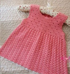 ♥️♥️♥️ This dress model I found very delicate, I loved this pink crochet pattern