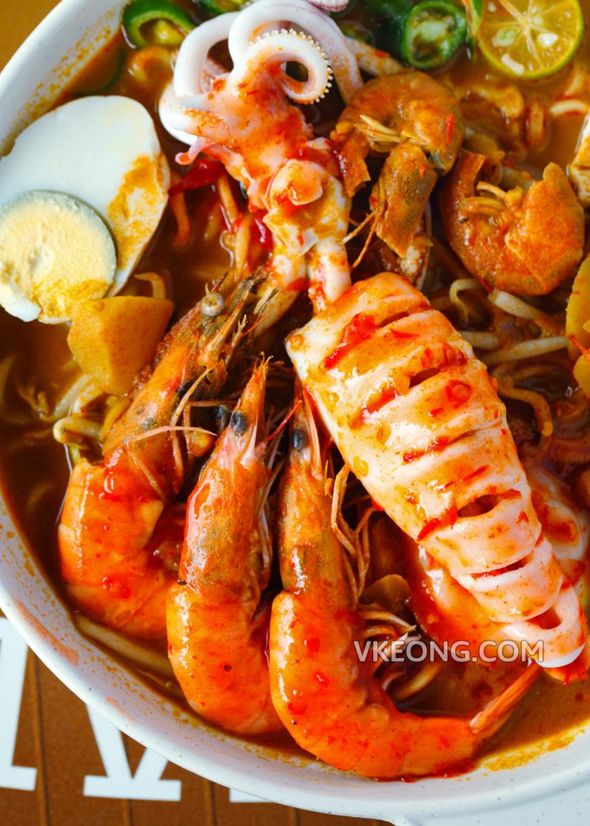 Melaka Sg Putat Mee Kari Special Seafood