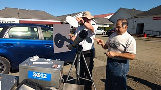 Telescope eclipse projection