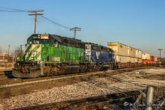 BNSF 8049 | EMD SD40-2 | BNSF Thayer South Subdivision