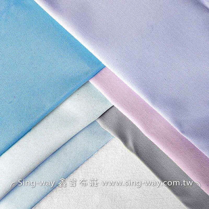 3C310001 粉紫藍色系 素面 T/C 棉布 斜紋布