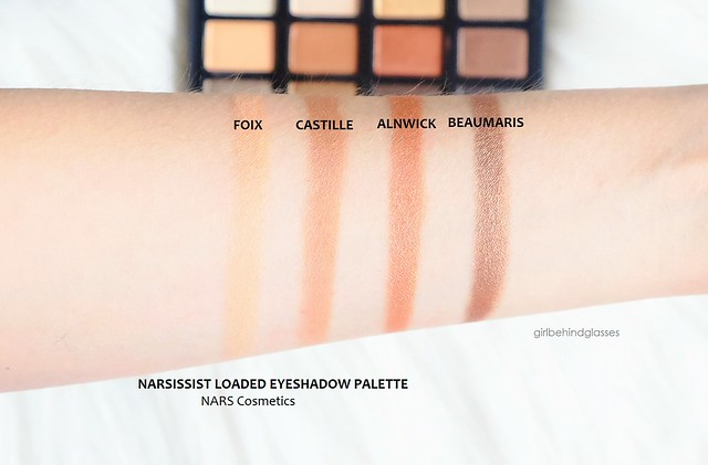 NARSissist Loaded Eyeshadow Palette swatches row2