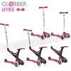 245-GLO-020 Globber哥輪步-五合一兒童滑板車滑步車學步車三輪設計適1~6歲轉向鎖定踏板限50公斤-粉紅