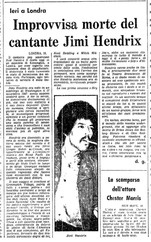 L'UNITA (ITALY) SEPTEMBER 19, 1970