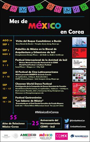 Septiembre, Mes de México en Corea