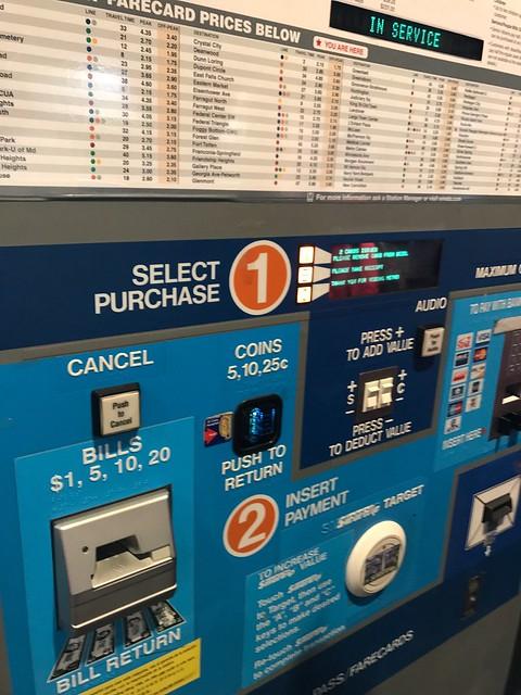金, 2017-06-23 15:51 - DCのメトロの券売機