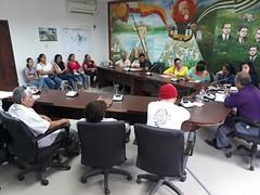 Comisiones de barrios, ciudadelas y zona rural de Chone atendidas en audiencia