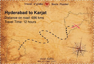 Map from Hyderabad to Karjat