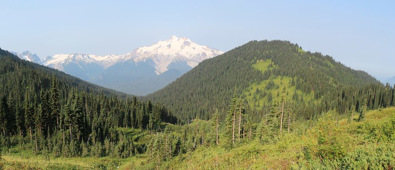 Glacier Peak and Flower Dome from the Buck Creek Trail as we head toward Middle Ridge