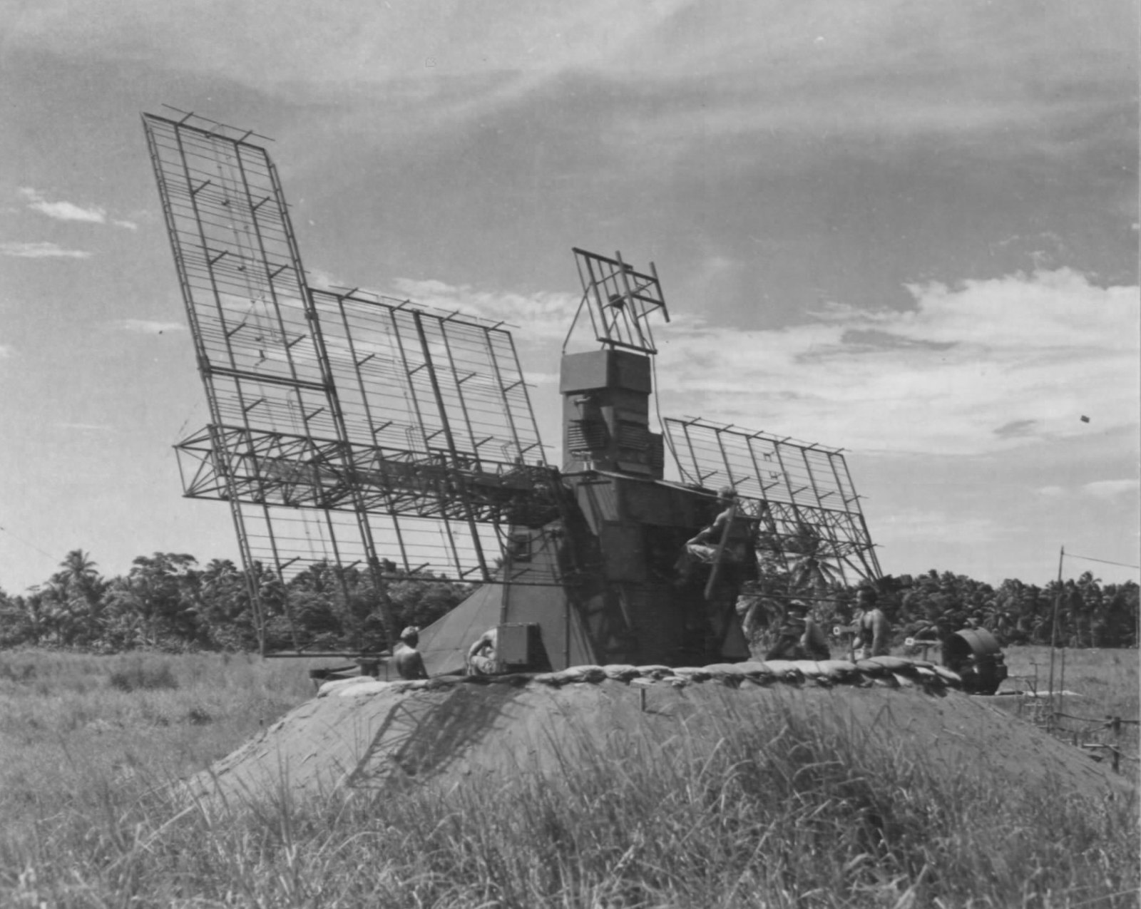 SCR-268 at Henderson Field, Guadalcanal