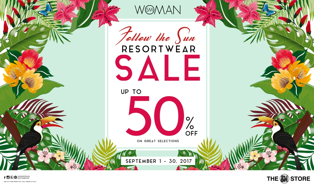 Follow the Sun Resort Wear Sale Even its Rainy Season by SM Woman