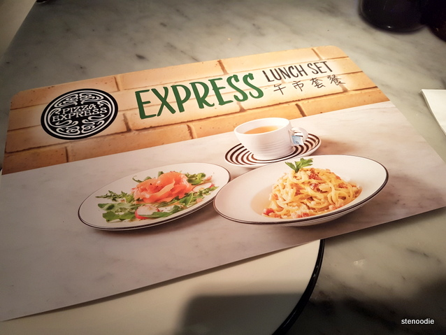 Pizza Express Express Lunch Set