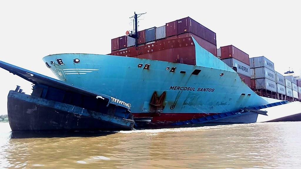 O choque das embarcações
