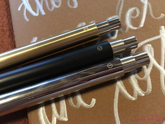 Review @InventeryCo Mechanical Pens - Brass, Chrome, Onyx 14