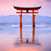 The Torii Gate of the Itsukushima Shrine