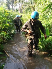 Dungu, Haut-Uele Province, DR Congo: Guatemalan Special Forces conducting reconnaissance to collect information on armed group activities during Red Kite operation.