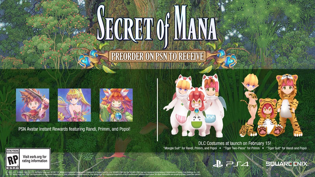Secret of Mana Remake Preorder