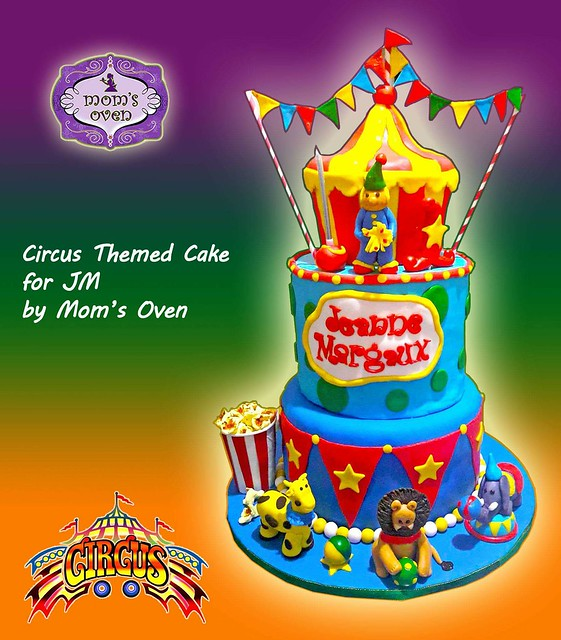Circus Themed Cake by Candice B. Ocampo of Mom's Oven
