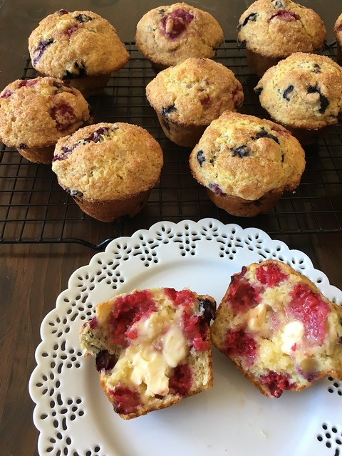 Blueberry Raspberry Muffins