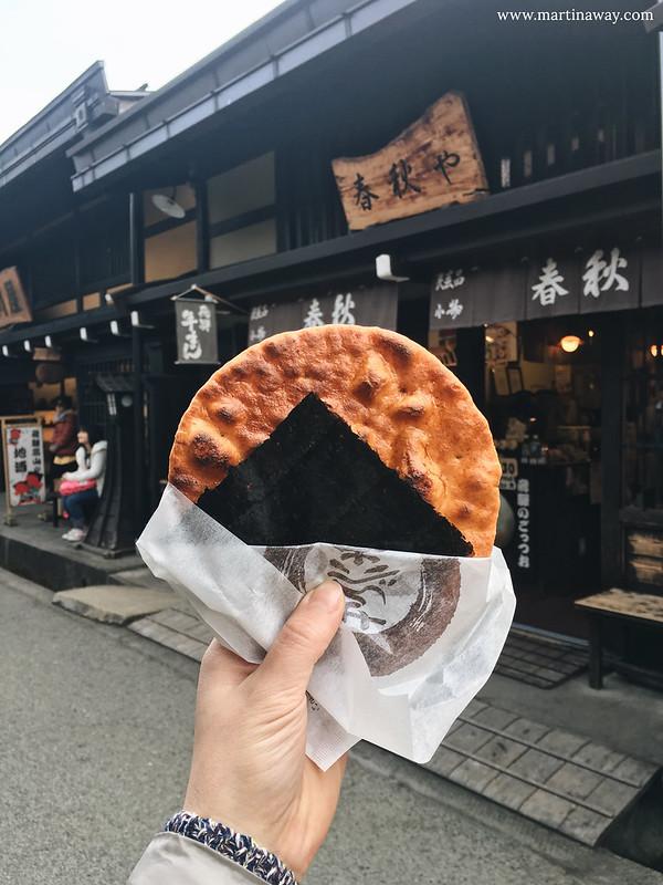 Cucina giapponese: Senbei a Takayama