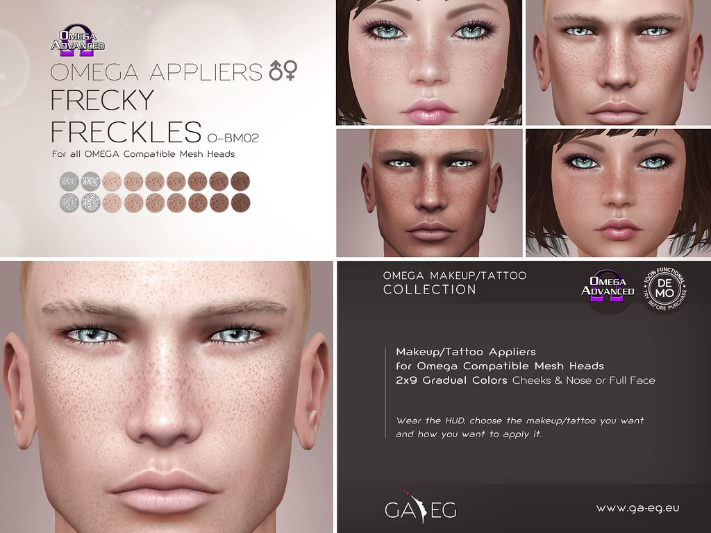 [GA.EG] Freckles - O-BM02 Freckly - Omega Applier - SecondLifeHub.com